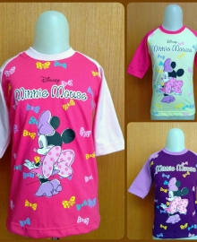 Kaos Anak Karakter Kiddos Minnie Mouse