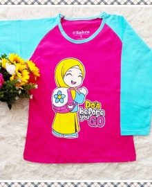 Kaos Anak Muslim Zahra Doa Before You go